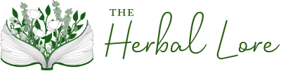 Logo of The Herbal Lore in green tones